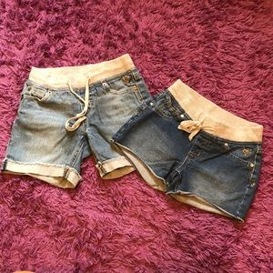 Two pairs of justice 10slim shorts